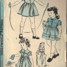 HOLLYWOOD 1693 UNDATED PATTERN GIRL'S SZ 6 YEARS DRESS OR HOUSECOAT