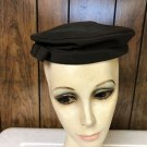 """VINTAGE LADIES BROWN FABRIC HAT 21"""" WITH 8"""" X 3/4"""" RIBBON ACCENT #102"""