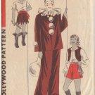HOLLYWOOD PATTERN 1241 30'S SZ 8 Year.Halloween Pierrot (Clown),Gypsy,Pirate