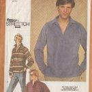 SIMPLICITY VINTAGE 1980 PATTERN 9739 SIZE 42/44/46 MEN'S PULLOVER SHIRT