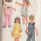 SIMPLICITY 1984 VTG PTRN 6730 SZ 4 CHILD'S SUNDRESS, JUMPER, TOP OVERALLS PANTS