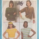 SIMPLICITY PATTERN 8088 SIZE 10/12 MISSES KNIT PULLOVER TOPS IN 3 VARIATIONS