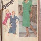 SIMPLICITY VTG 1981 PATTERN 9948 SIZE 18 1/2 MISSES' SIDE BUTTON DRESS & JACKET