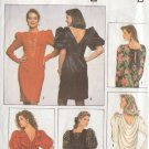 SIMPLICITY VINTAGE 1990 PATTERN 9911 SIZE 6-14 MISSES' DRESS W/BACK VARIATIONS
