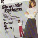 McCALL'S VINTAGE PATTERN 5756 SIZES 8/10/12 MISSES' PANTS AND SKIRT  UNCUT
