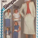 SIMPLICITY PATTERN 6272 SIZE 10 MISSES' PANTS, SLIM SKIRT, LINED JACKET AND TOP