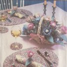 SIMPLICITY PATTERN 9692 BRAIDED PLACE MATS COASTERS BASKET NAPKIN RINGS FLOWERS