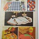 SIMPLICITY PATTERN 5473 Place mats, napkins, coaster & napkin ring