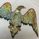 """VERY LARGE SEQUIN EAGLE FOR A CAPE OR JUMPSUIT 16 1/2 TALL 24"""" WING TIP TO TIP"""