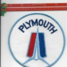"""PLYMOUTH PATCH 5"""" ROUND IRON ON OR SEW ON"""