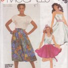 McCALL'S PATTERN 2009 SIZE 10 MISSES' SET OF 2 SKIRTS & POODLE APPLIQUE