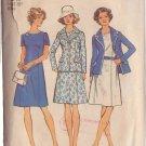 SIMPLICITY VINTAGE 1974 PATTERN 6201 SIZE 14 MISSES' SHORT DRESS 4 LOOKS