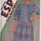 SIMPLICITY VINTAGE 1983 PATTERN 6289 SIZES 12/14/16 MISSES' DRESS