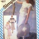 SIMPLICITY VINTAGE 1984 PATTERN 6317 SIZE 10 MISSES' 2 PIECE DRESS WIT BIAS SKIRT