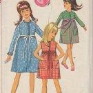 SIMPLICITY 1965 PATTERN 6326 SZ 12 GIRLS' ONE PIECE DRESS