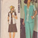 SIMPLICITY 1974 VINTAGE PATTERN 6336 SZ 14 TWO PIECE DRESS, TOP, VEST, PANTS