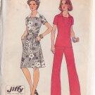 SIMPLICITY 1974 VINTAGE PATTERN 6384 SZ 16 DRESS, TOP,  PANTS
