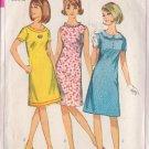 SIMPLICITY 1966 VINTAGE PATTERN 6465 SZ 7jp 1 PIECE DRESS WITH 3 NECKLINE TRIMS