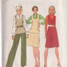 SIMPLICITY 1984 VINTAGE PATTERN 6497 SZ 12 PANTS, SKIRT, SHIRT, LINED VEST