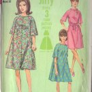 SIMPLICITY 1966 PATTERN 6820 SIZE 12 MISSES' ONE PIECE DRESS 2 STYLES