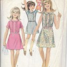 SIMPLICITY PATTERN 7110 SZ 10 1/2 GIRLS' DRESS IN 3 VARATIONS