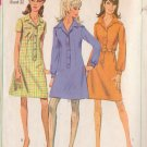 SIMPLICITY 1967 PATTERN 7168 SIZE 12 MISSES' 1 PIECE SHIRTDRESS 3 STYLES