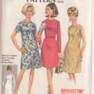 SIMPLICITY 1967 PATTERN 7509 SIZE 16 1/2 MISSES' BASIC DRESS 3 VARATIONS