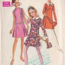 SIMPLICITY 1968 PATTERN 7524 SIZE 12 MISSES' DRESS 3 STYLES
