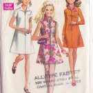 SIMPLICITY 1968 PATTERN 7526 SIZE 12 MISSES' DRESS 3 STYLES