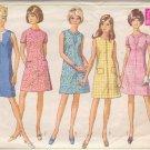 SIMPLICITY VINTAGE PATTERN 7530 SIZE 14 MISSES' DRESS 5 VARIATIONS