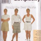 SIMPLICITY PATTERN 8062 SZ 6/8/10 MISSES' SHORTS IN 3 STYLES