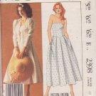 McCALL'S PATTERN 2398 SIZE 10 MISSES' LAUREL ASHLEY DRESS, JACKET