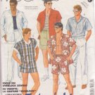 McCALL'S PATTERN 2489 SIZE LARGE 42-44 MAN'S SHIRT, PANTS, SHORTS OR SWIMSUIT