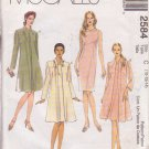 McCALL'S PATTERN 2584 MISSES' UNLINED JACKET AND DRESS CUT FOR SIZE 14