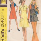 McCALL'S 1970 PATTERN 2640 MISSES' SIZE 14 DRESS OR TOP AND PANTS