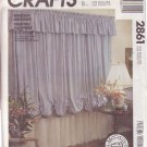McCALL'S VINTAGE PATTERN 2861 WINDOW DRESSING OR CURTAINS