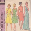 McCALL'S PATTERN 3269 MISSES' DRESS IN SIZE 8 4 VARIATIONS, 2 LENGTHS