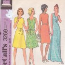 McCALL'S PATTERN 3269 MISSES' DRESS IN SIZE 10 4 VARIATIONS, 2 LENGTHS
