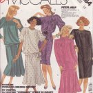 McCALL'S PATTERN 3264 MISSES' SIZE 12 BASIC DRESS TOP SKIRT & SCARF