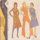 McCALL'S PATTERN 2951 SIZE 16 MISSES' DRESS OR TUNIC & PANTS