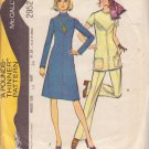 McCALL'S PATTERN 2952 SIZE 14 MISSES' DRESS OR TUNIC & PANTS