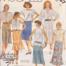 McCALL'S PATTERN 2957 MISSES' SKIRT IN 6 VARIATIONS SIZE 10 UNCUT