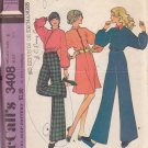 McCALL'S PATTERN 3408 SIZE8 MISSES' UNLINED JACKET SKIRT PANTS
