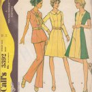McCALL'S PATTERN 3392 SIZE 12 MISSES' DRESS OR TUNIC AND PANTS