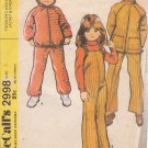 McCALL'S PATTERN 2998 CHILD'S SIZE 3  UNISEX JACKET & OVERALLS