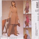 McCALL'S PATTERN 2983 MISSES' SIZE 12/14/16 DRESS TOP SKIRT PANTS