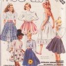 McCALL'S PATTERN 3322 SZ 10 GIRLS' SKIRTS AND PETTICOAT