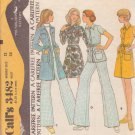 McCALL'S PATTERN 3482 SIZE 12 MISSES' COAT DRESS, TOP, PANTS