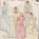 McCALL'S PATTERN 3490 SIZES 6/8/10 DATED 1988 MISSES'  BRIDAL & BRIDESMAID GOWNS