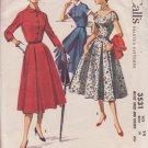 McCALL'S PATTERN 3531 SIZE 14 DATED 1955 MISSES'  DRESS & BOLERO